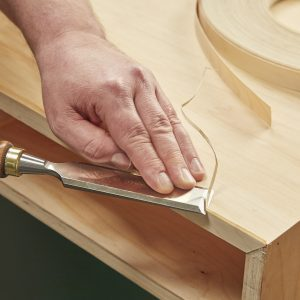 Trim Edge-banding with a Chisel