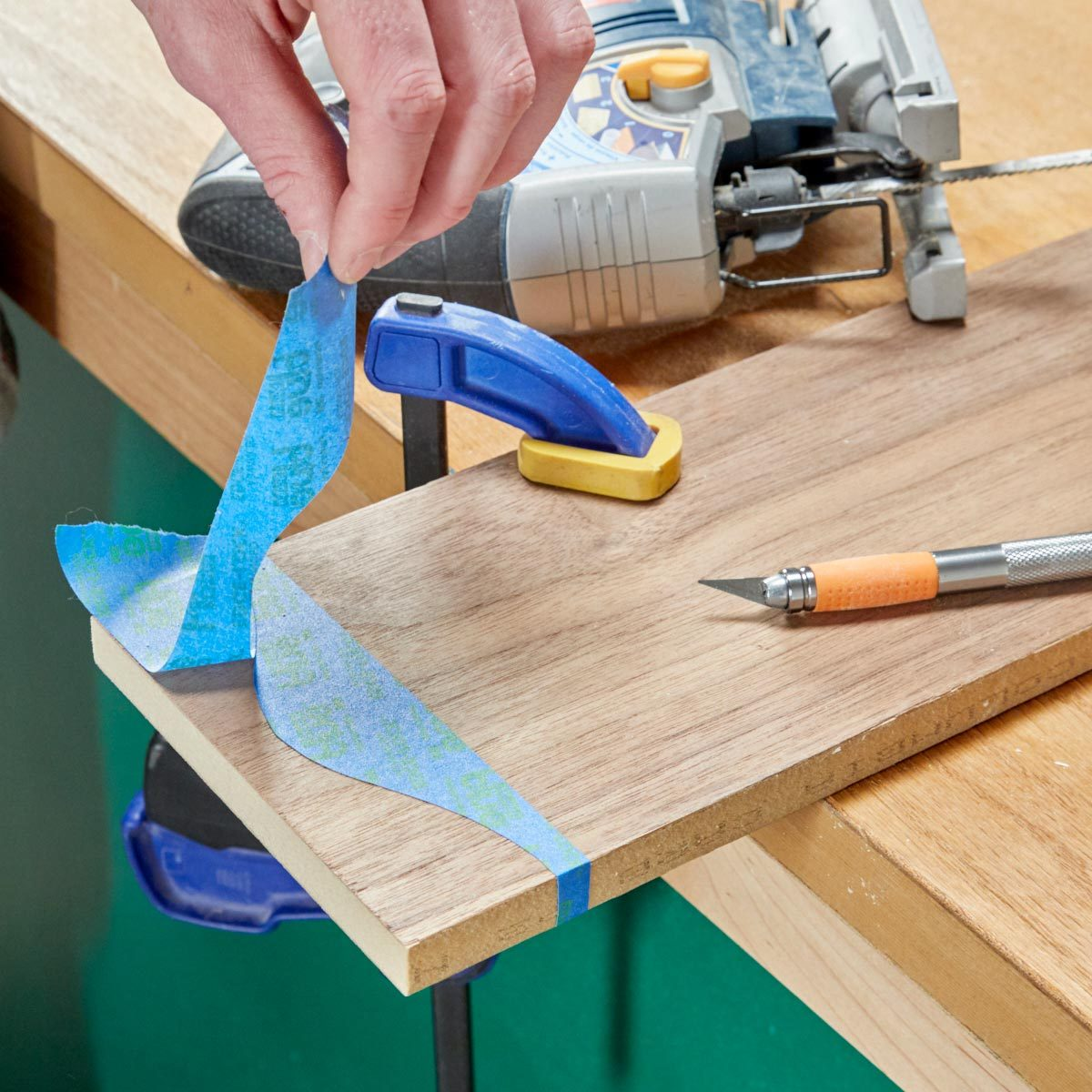 HH painters tape jigsaw guide