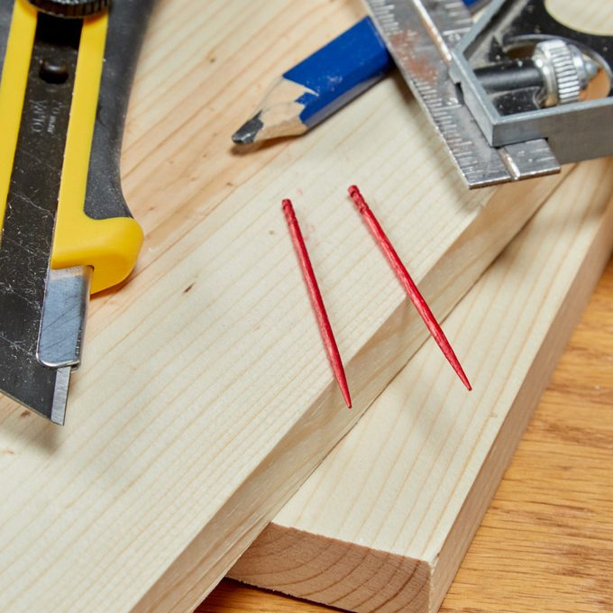 How to Use Toothpicks as Dowels