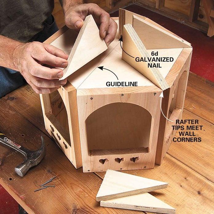 bird gazebo step 5 rafters