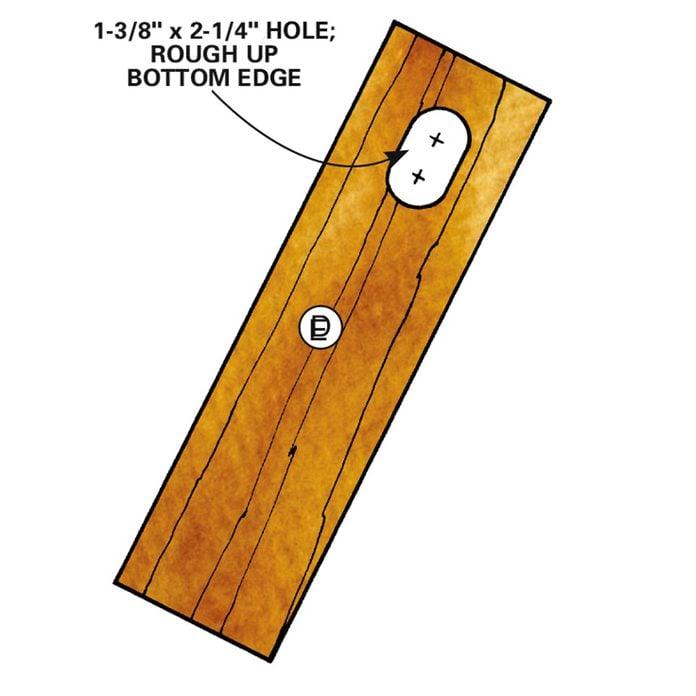 Measure and cut door bluebird house