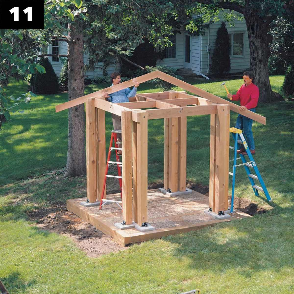 How to Build a Post and Beam Pavilion — The Family Handyman
