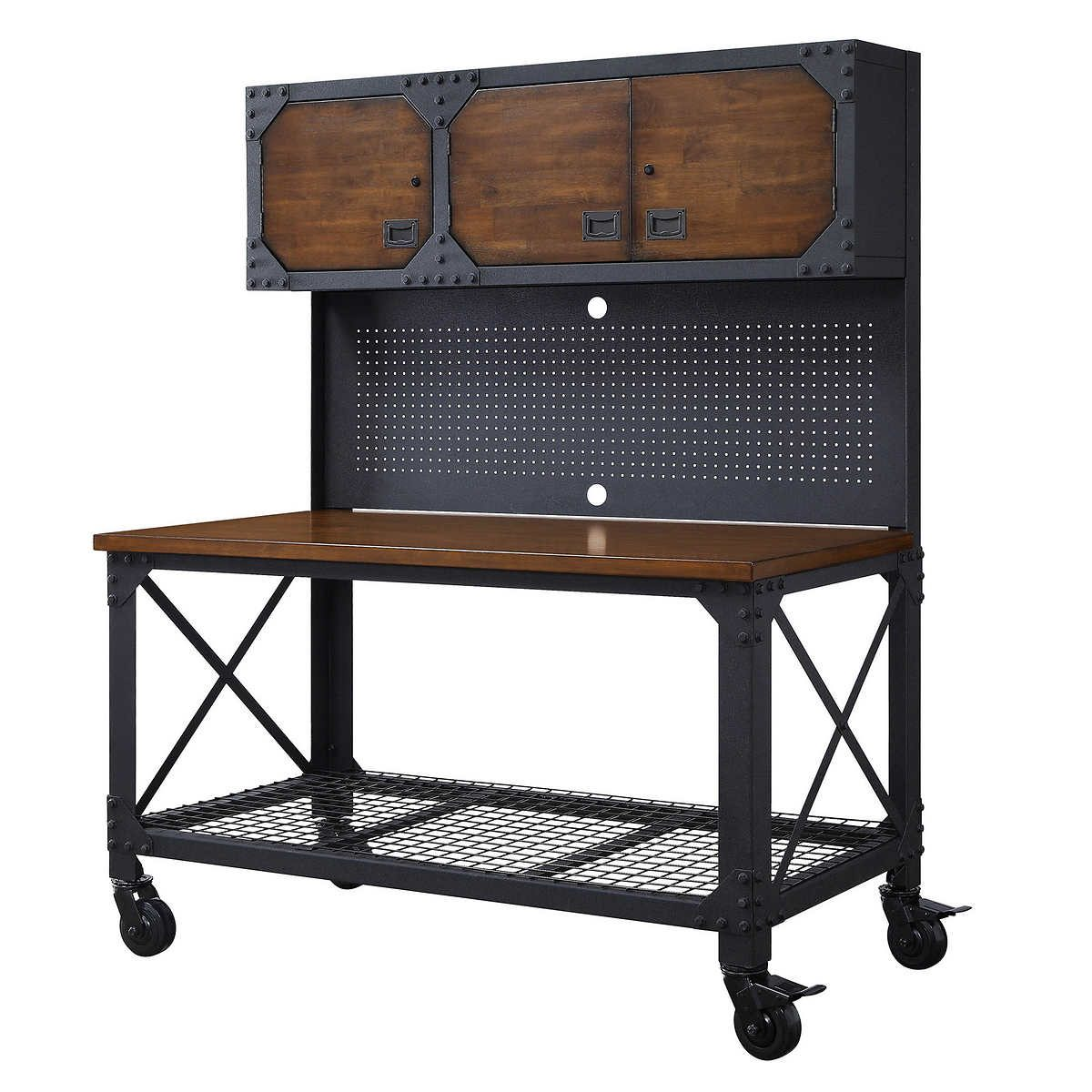 Flip And Fold Rolling Table Stainless Steel Wood: 10 Workshop Storage Products You Can Get At Costco
