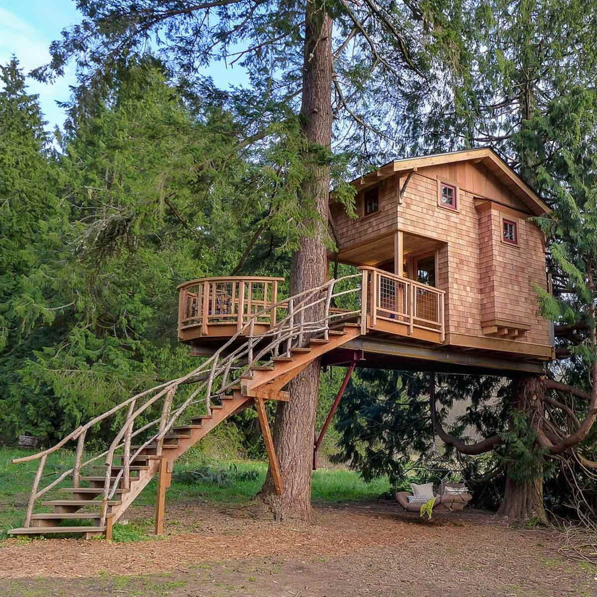 50 DIY Treehouses Made From Reclaimed Materials Family Handyman