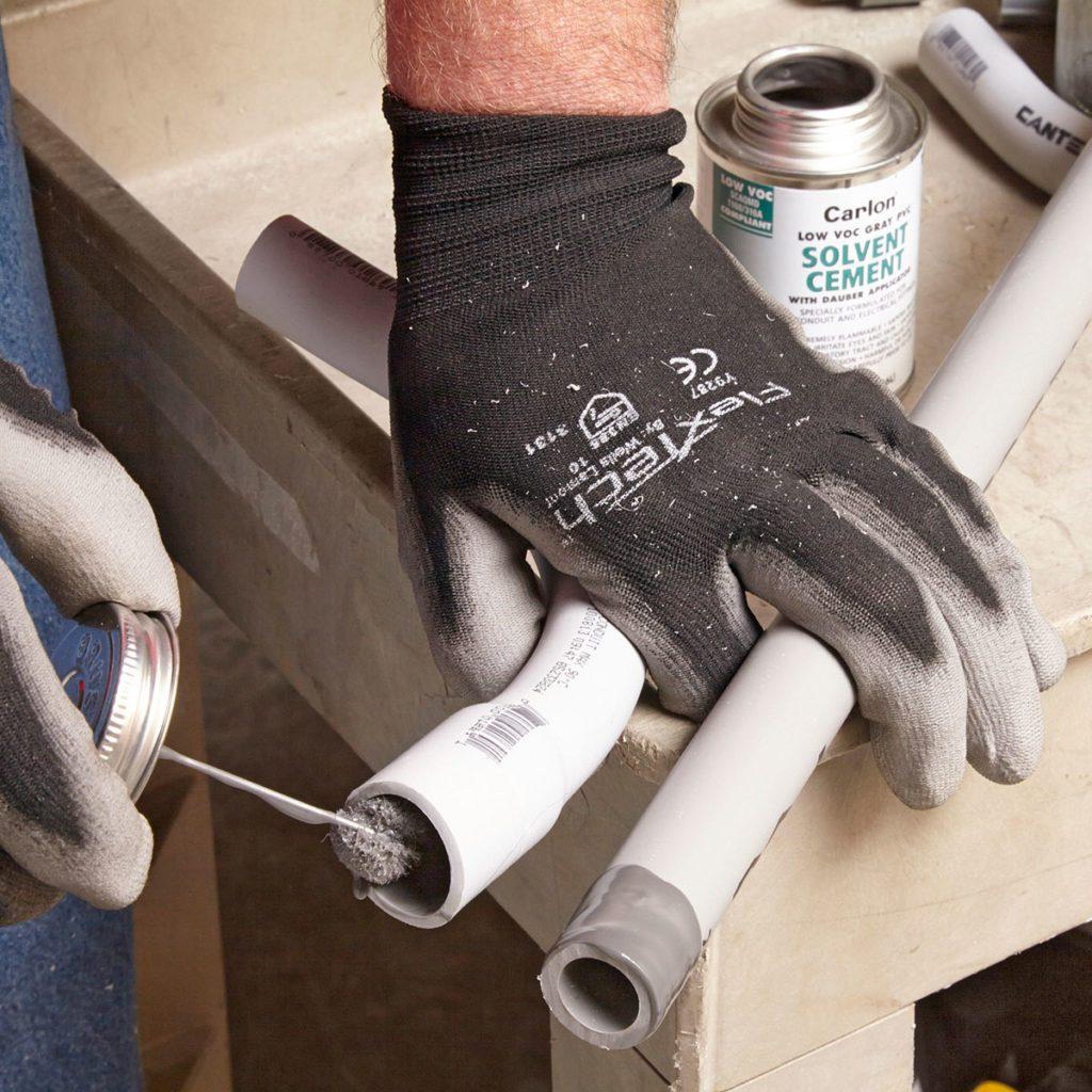 Gluing PVC Conduit | Construction Pro Tips