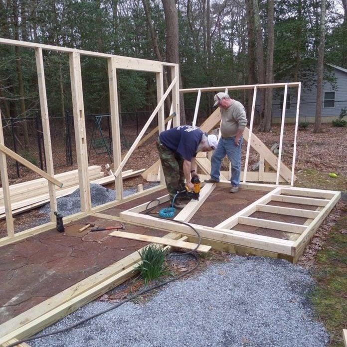 stick built shed