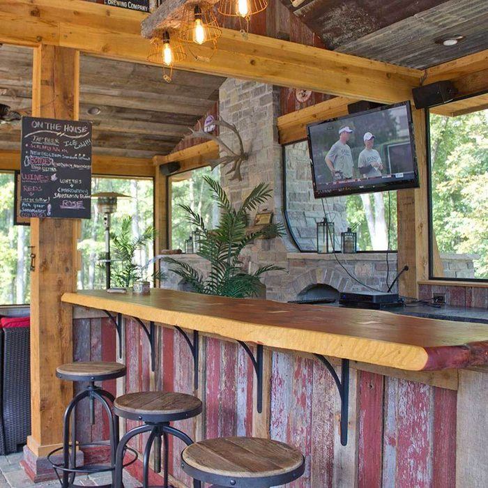 rustic outdoor bar