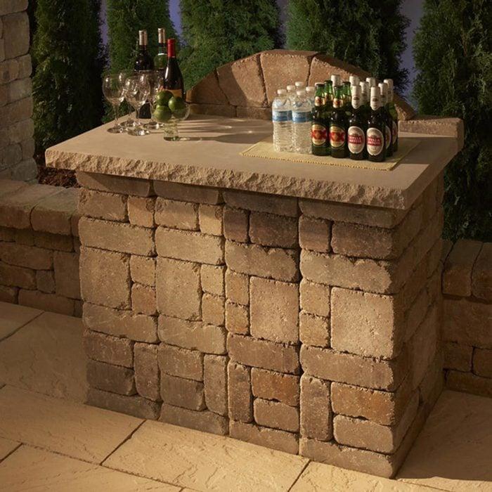 Concrete Paver patio Bar Kit