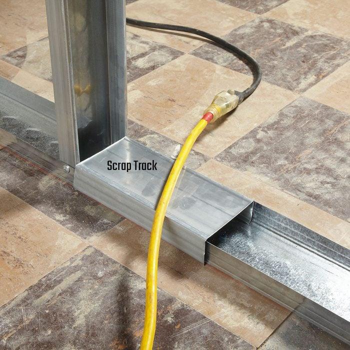 Scrap track preventing cord damage | Construction Pro Tips
