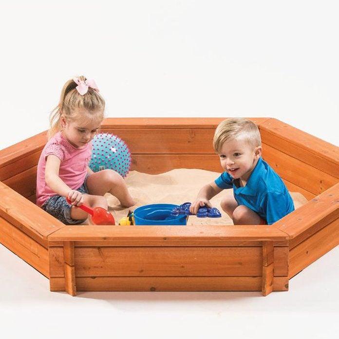 Cedar Hexagon Sandbox
