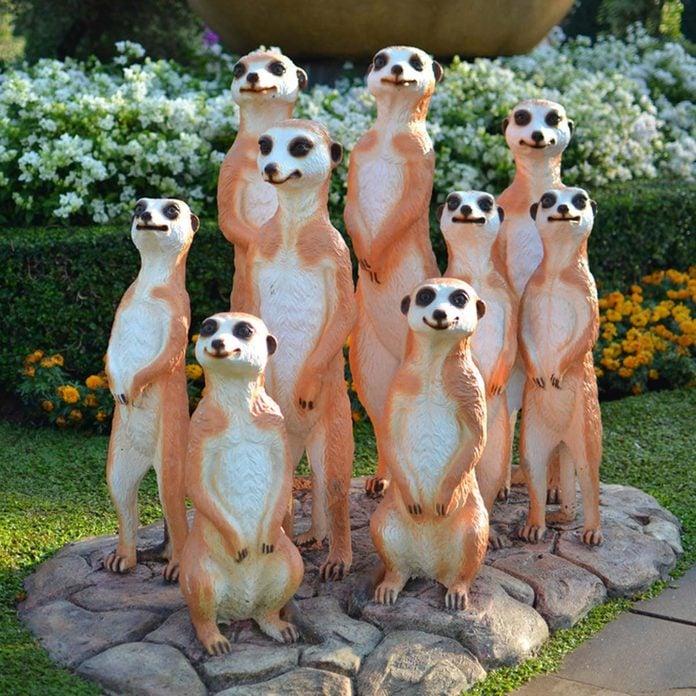 Meerkats plastic tacky lawn ornaments