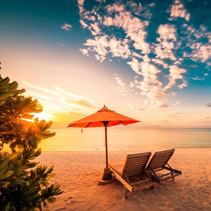 lucky winner beach tropical vacation