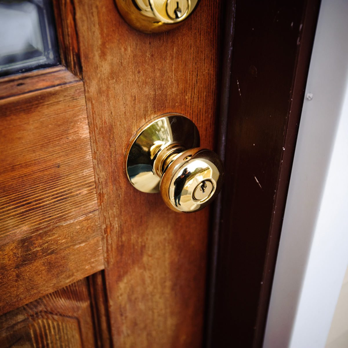 exterior brass door knob