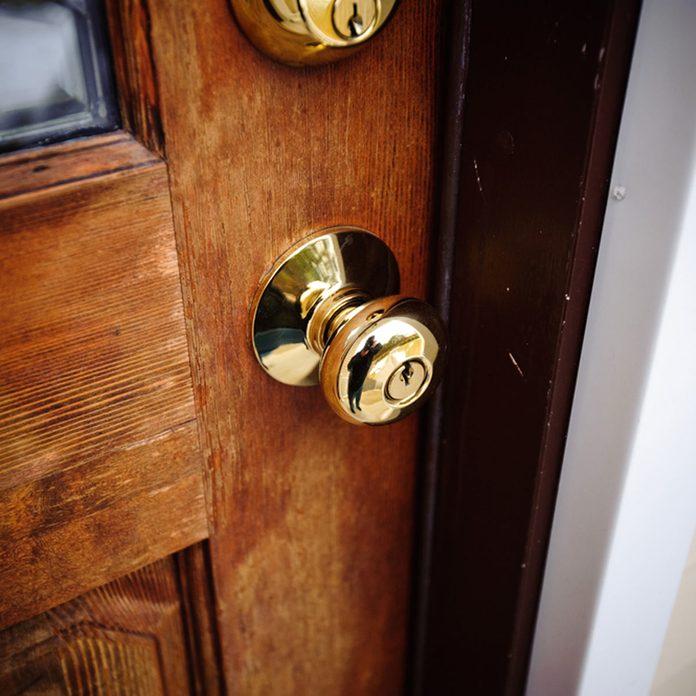 exterior brass door knob