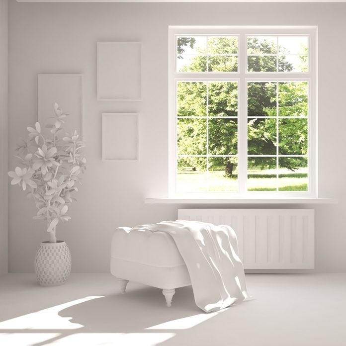 white room large glass windows