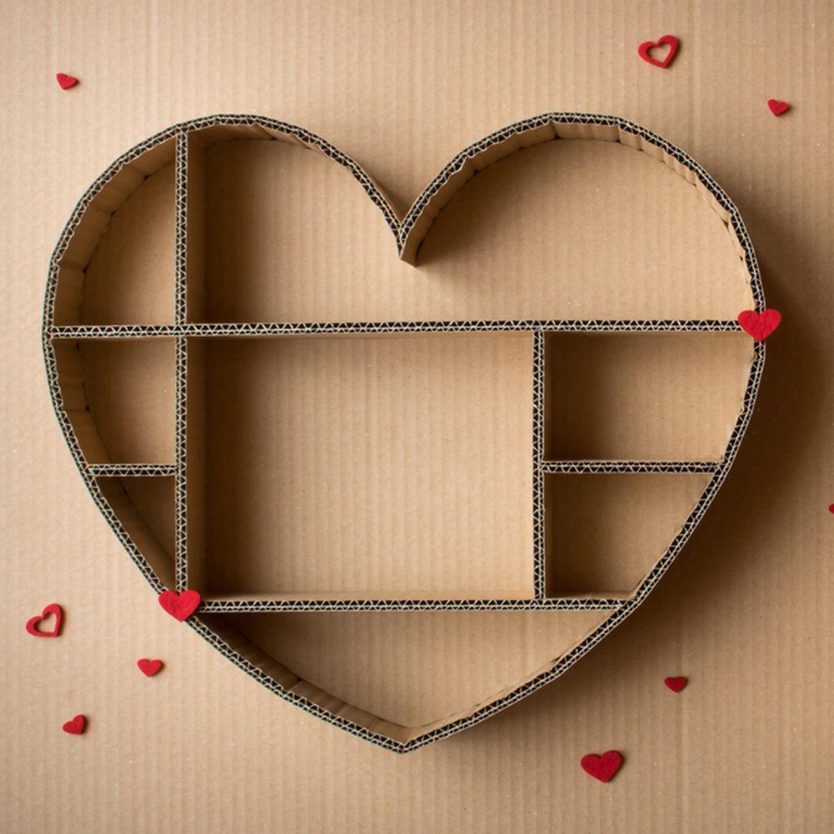 cardboard heart shadow box