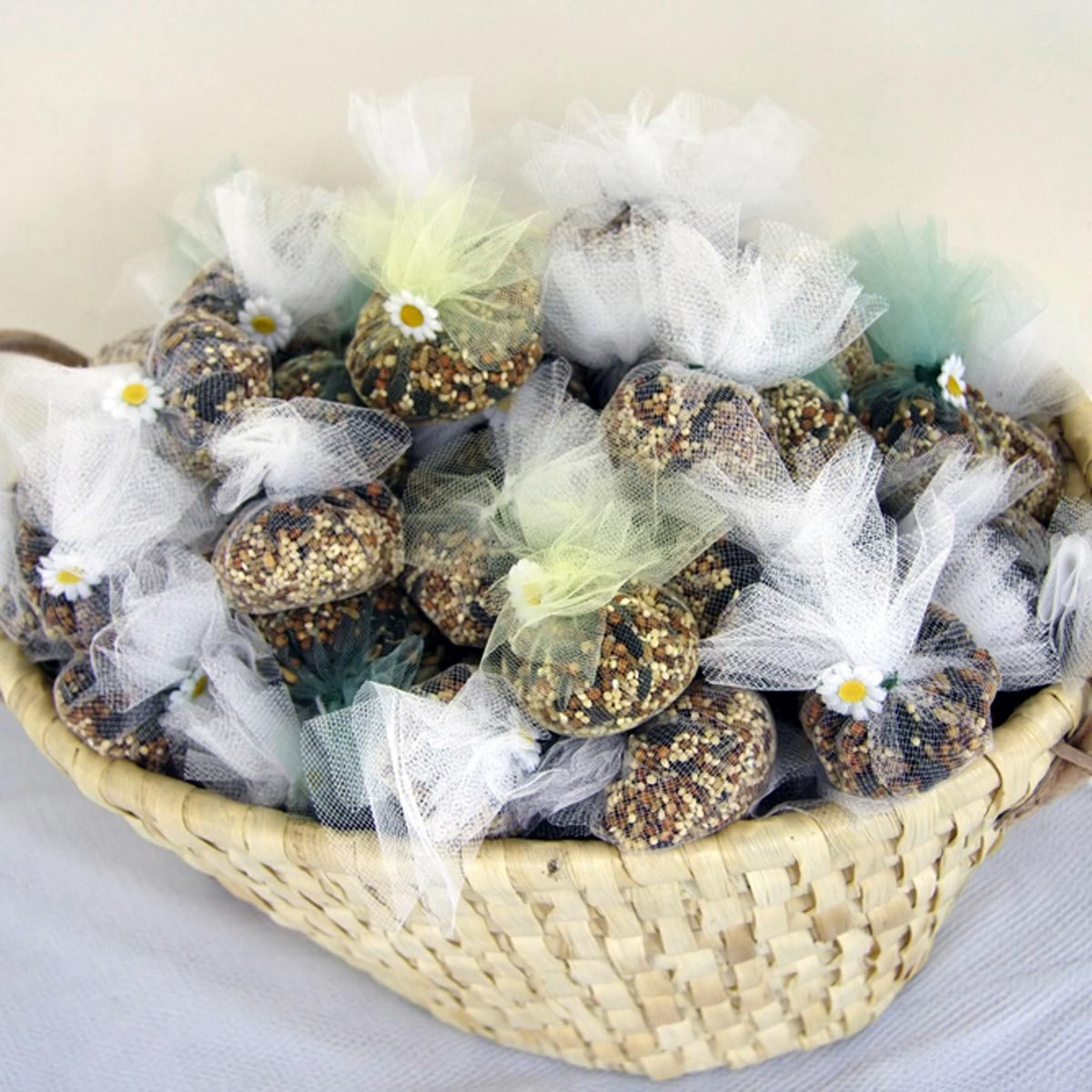 wedding bird seed confetti