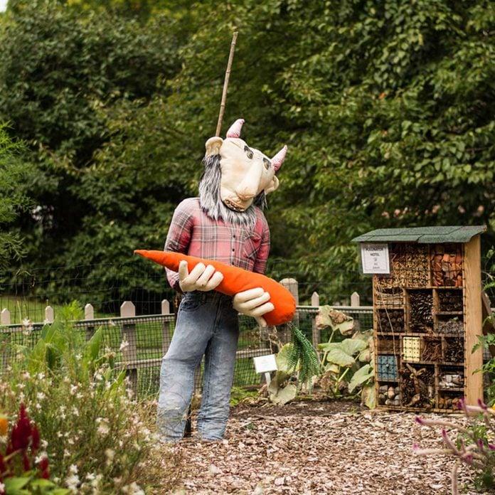 goat scarecrow