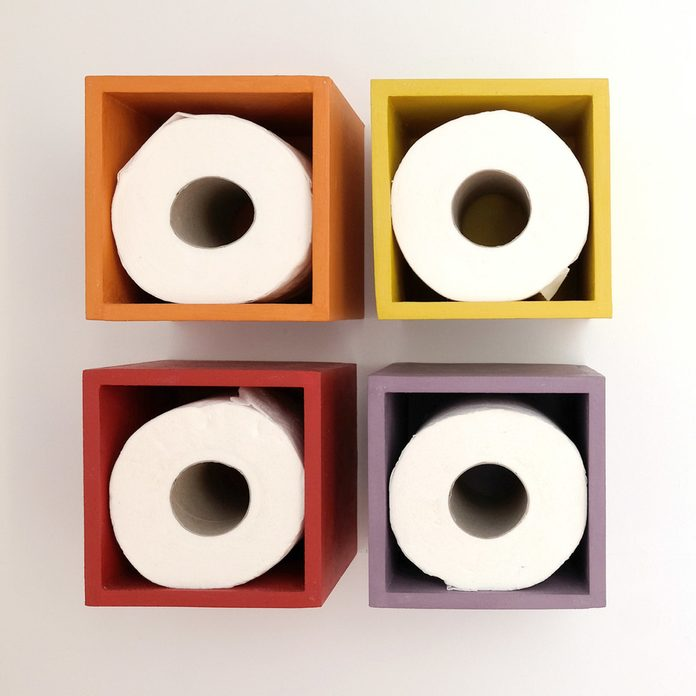 Color Blocks toilet paper holder