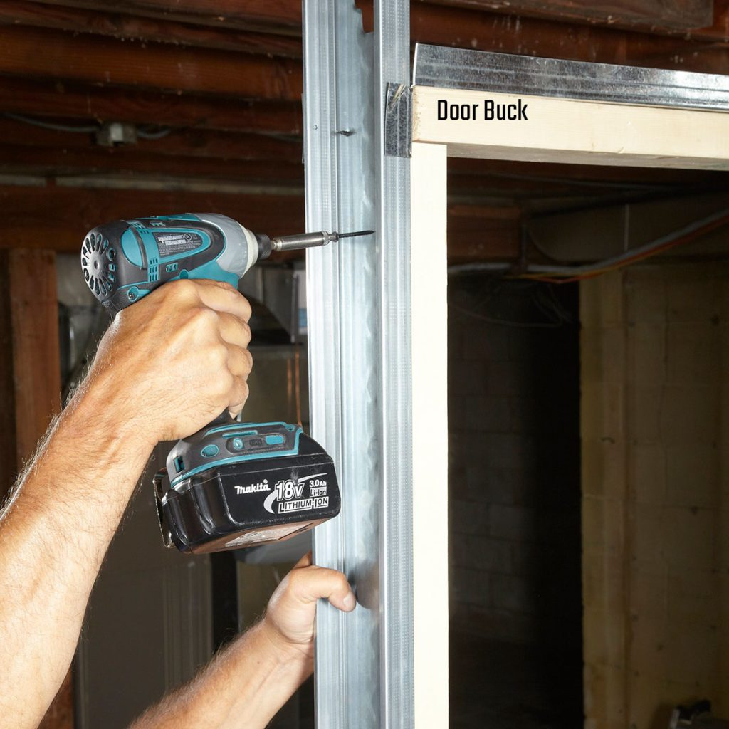Using wood bucks to create a form for the door | Construction Pro Tips