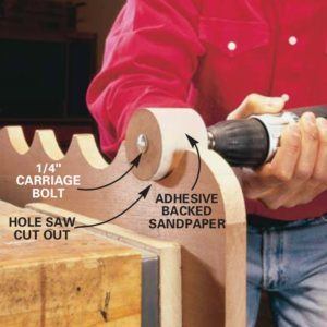 Hole-Saw Drum Sander