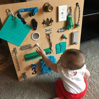 baby busy board ideas