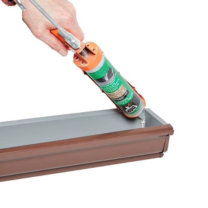 Caulking in the end of a gutter | Construction Pro Tips