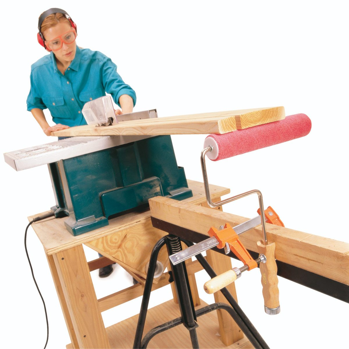 Portable roller stand the family handyman - Mobel roller teppiche ...