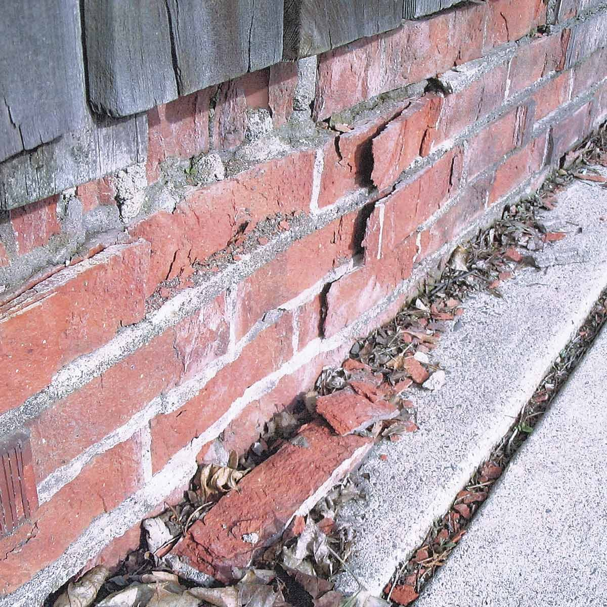 crumbling brick