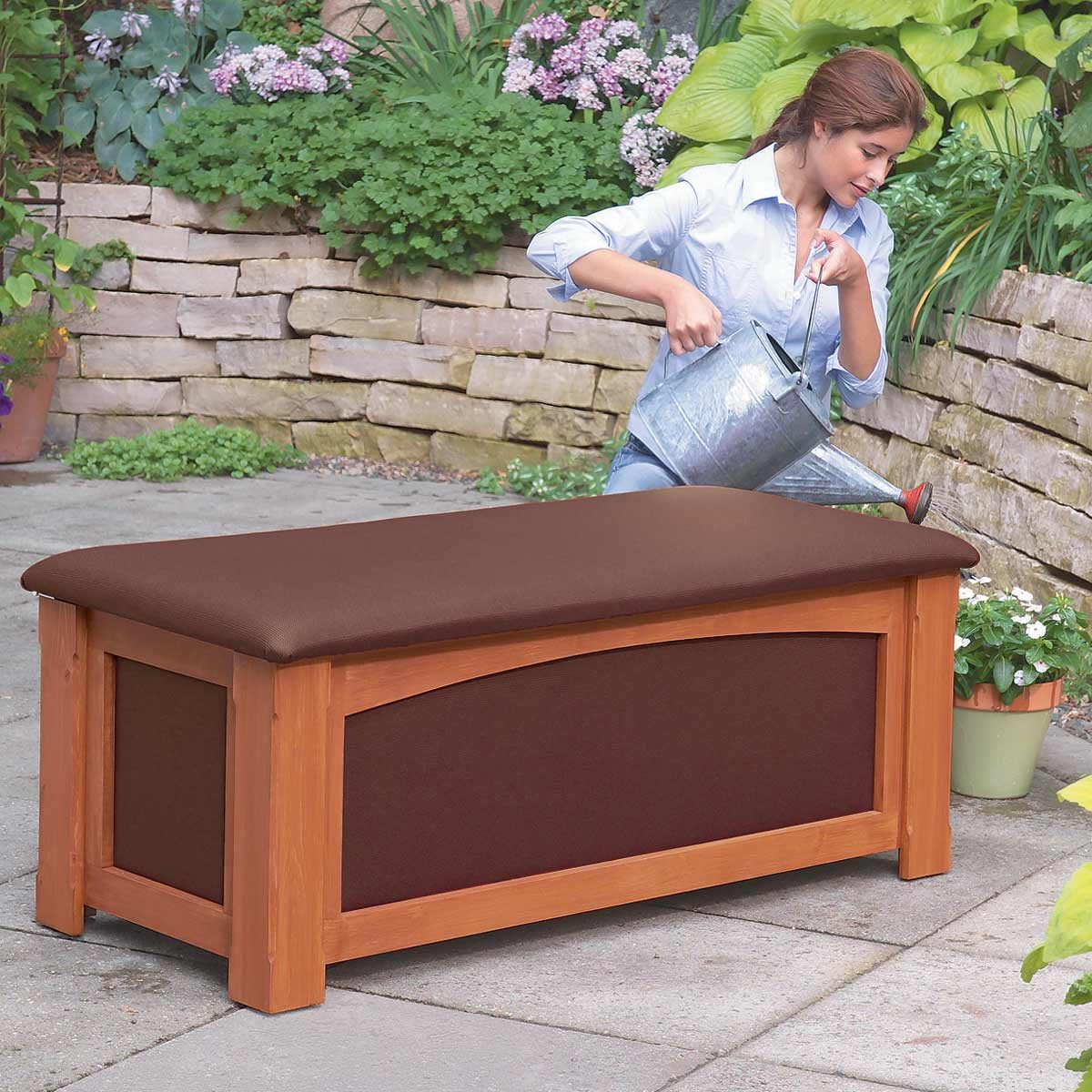 Brilliant How To Build An Outdoor Storage Bench The Family Handyman Gmtry Best Dining Table And Chair Ideas Images Gmtryco