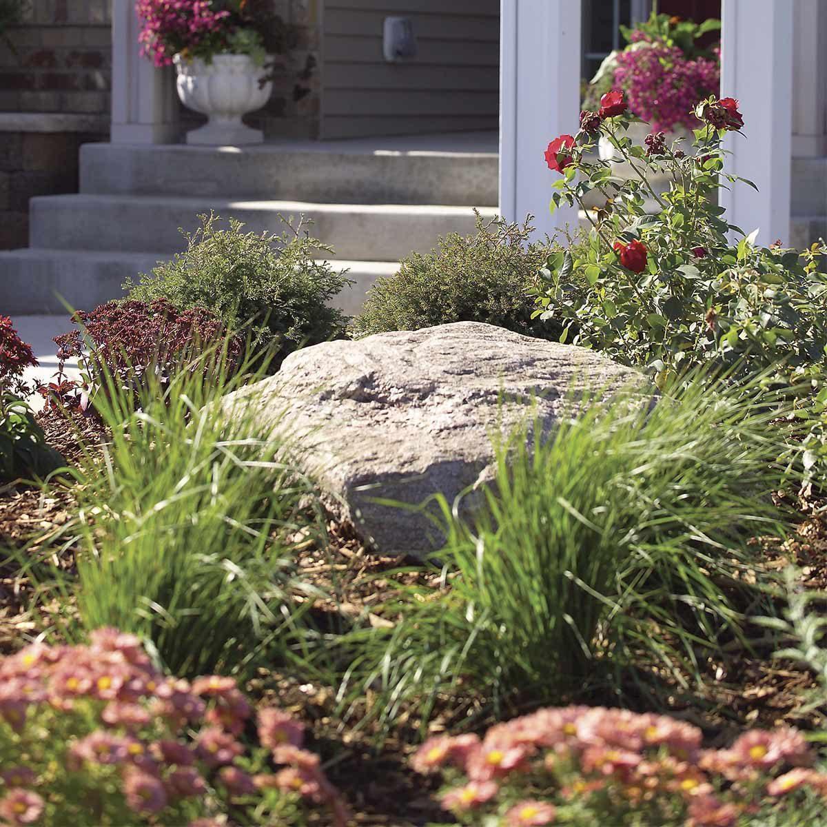 landscaping boulder & Cheap Landscaping Updates that Make a Splash \u2014 Family Handyman | The ...