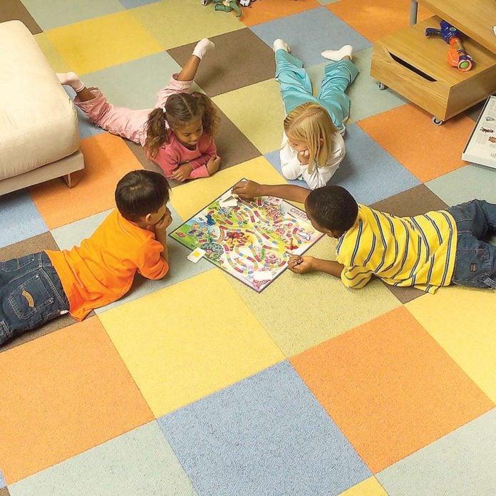 carpet squares kids children playing