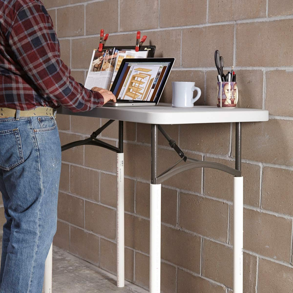 PVC Hack: Adjustable Table Height