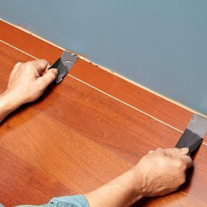 Tip for Installing Flooring in Tight Spots