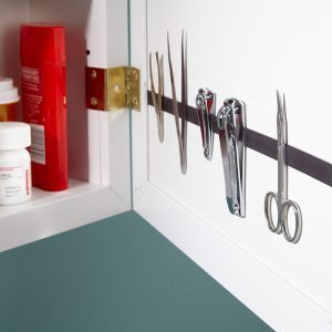 Add a Magnetic Strip to Your Medicine Cabinet