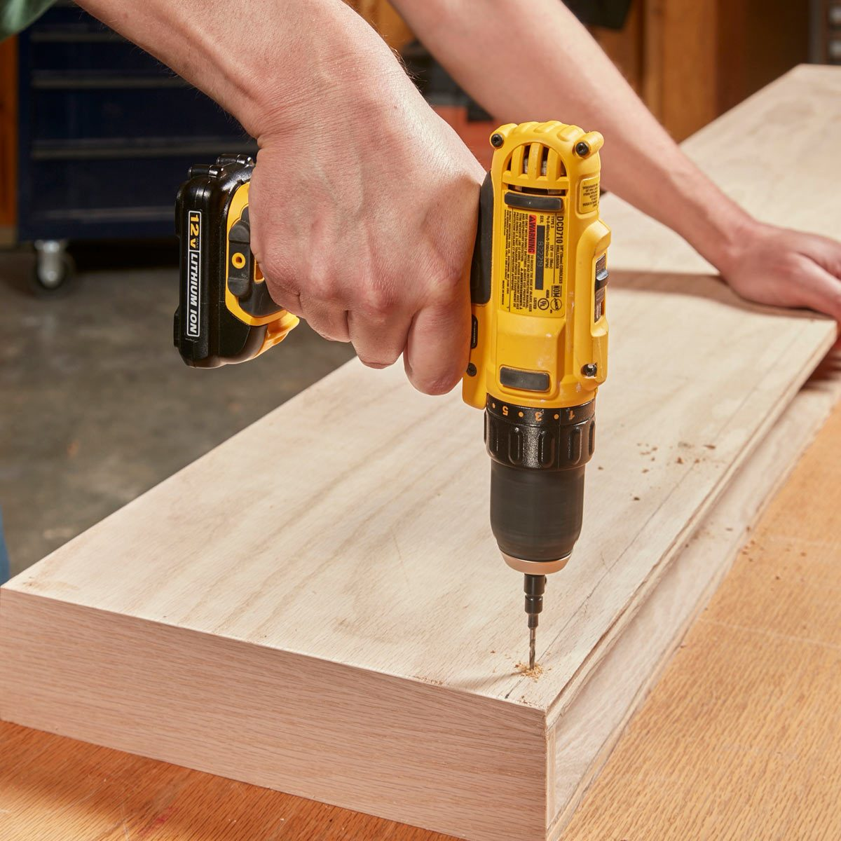 Floating Shelves drill holes for screws