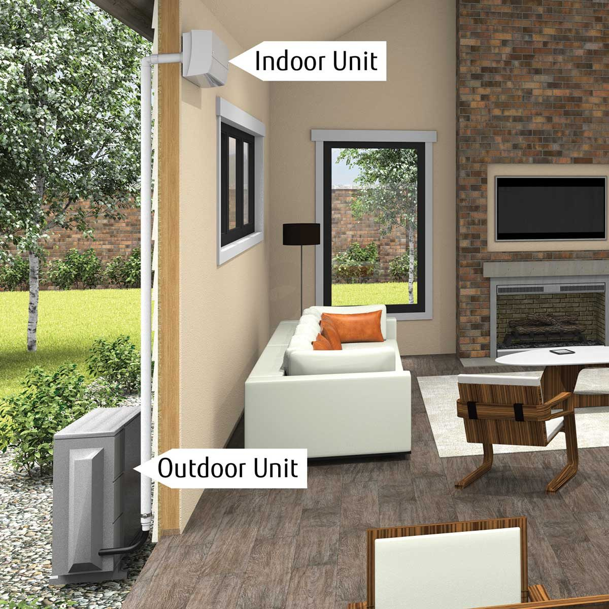 Fujitsu-Indoor-Outdoor-Units