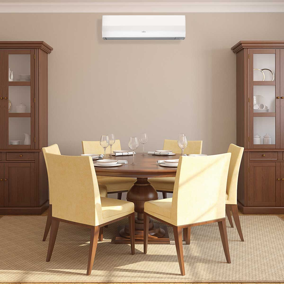 Fujitsu-Wall-Mcunt-Traditional-Dining-Room