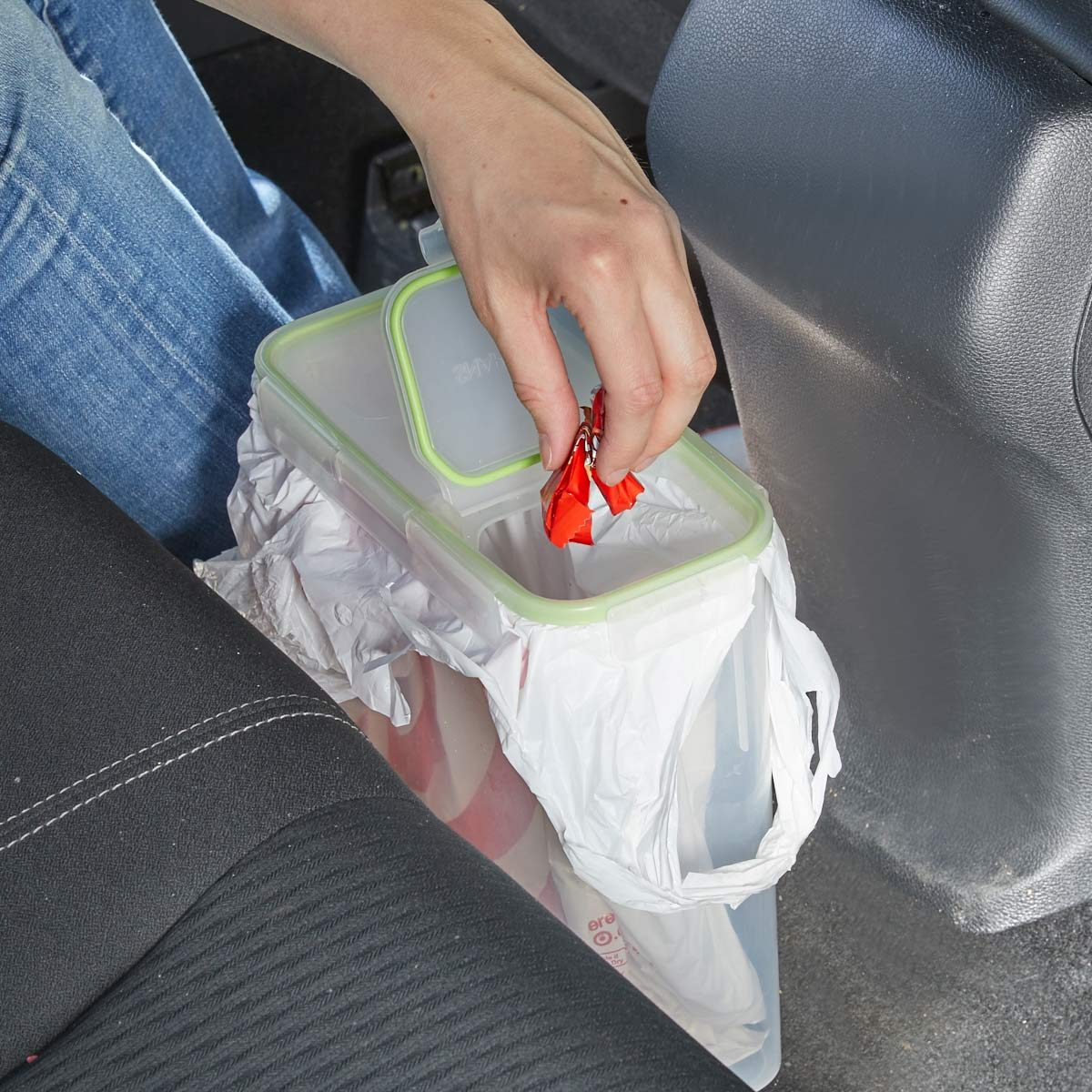 HH cereal container car trash can