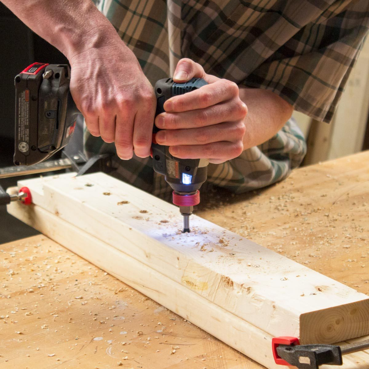 Adjustable Sawhorse Drill holes into the uprights