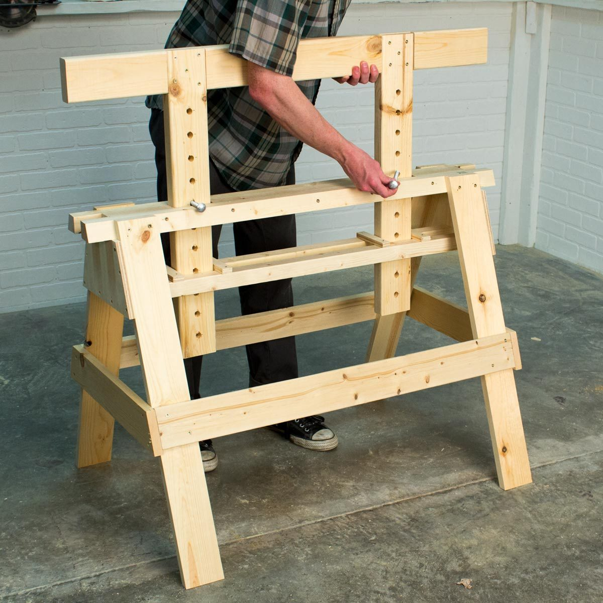 Adjustable Sawhorse