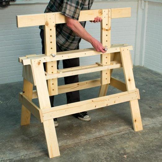Adjustable Sawhorse