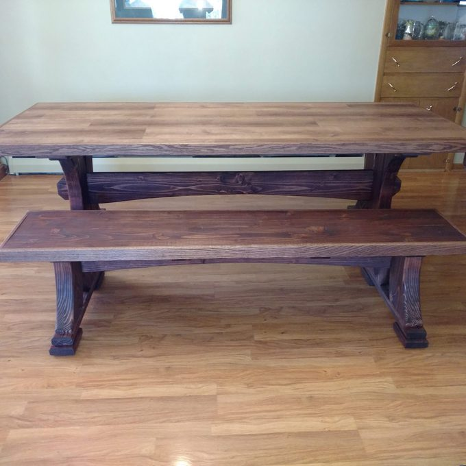 Modified Viking long table