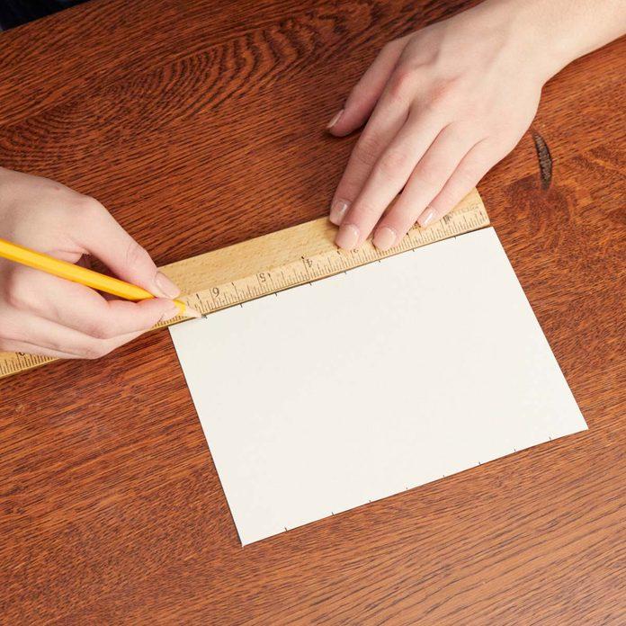 Measure-and-mark DIY artwork