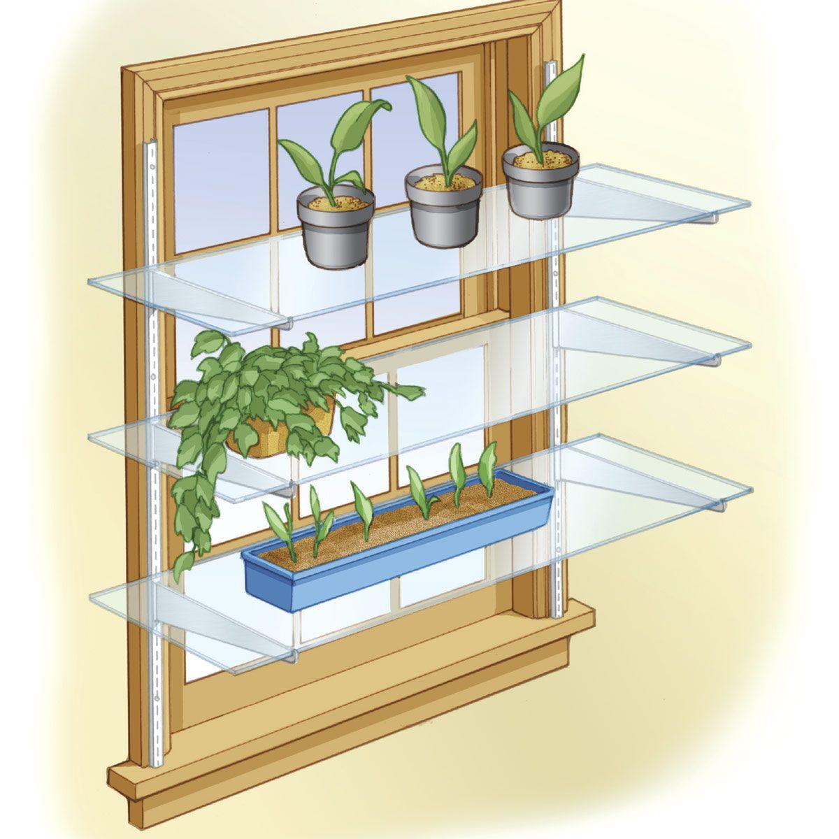 Kitchen Window Plants Window Plant Shelf Window Sill: The Family Handyman