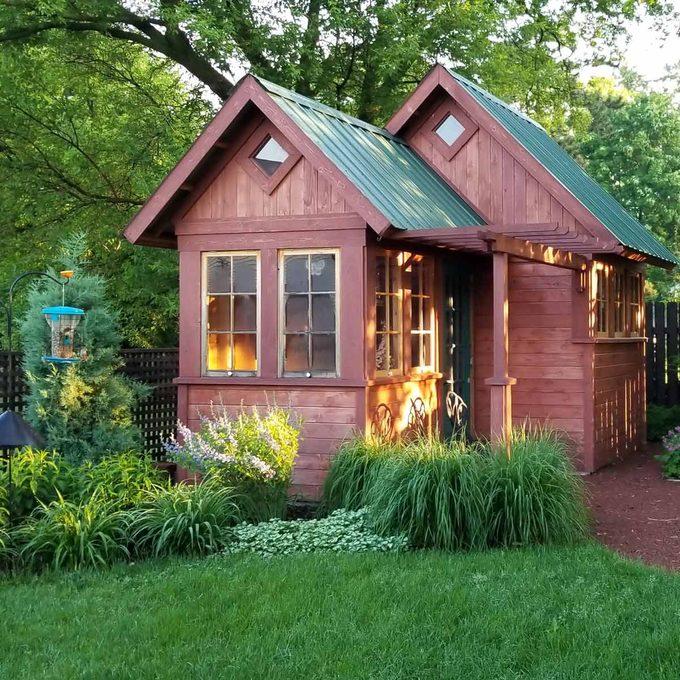 Rustic cedar garden shed