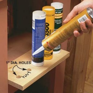 Caulk Storage Shelf