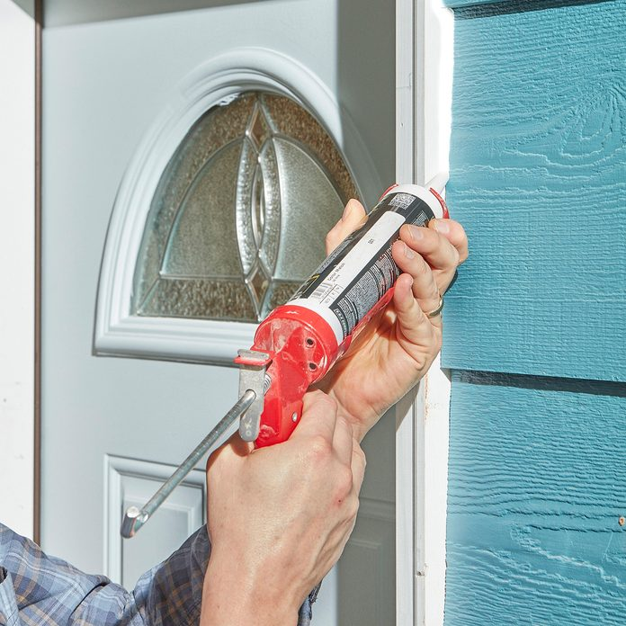 Caulk being used to seal exterior surfaces | Construction Pro Tips