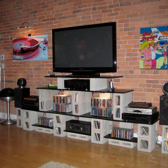 cinder-block tv-stand