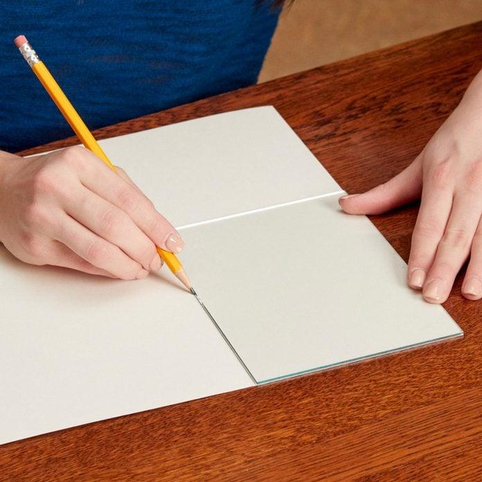 DIY art using glass template